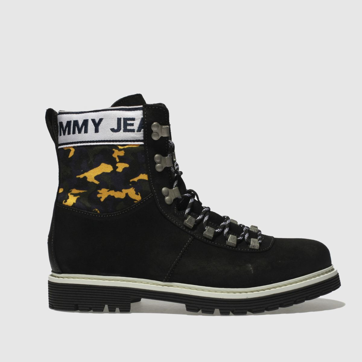 Tommy Hilfiger Black Tj Camo Hiking Boots