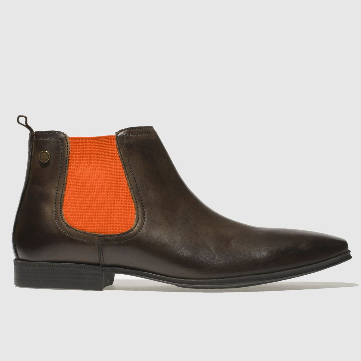 Base London Brown & Orange Weaver Boots