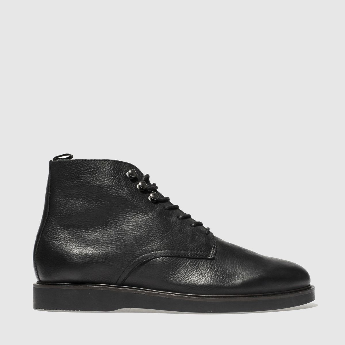 H By Hudson Black Battle Boots