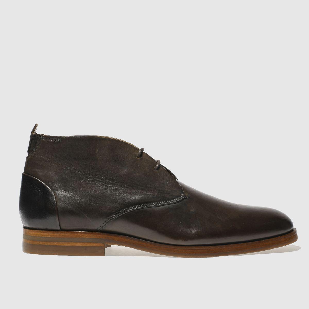 h by hudson dark brown matteo boots