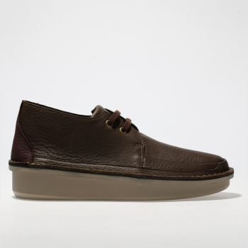 Clarks Originals Brown Oswyn Mid Mens Shoes
