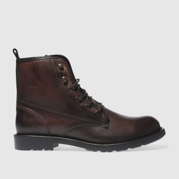 Schuh Brown Sewell Military Boot Mens Boots