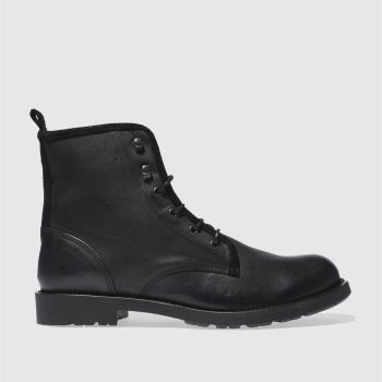 Schuh Black Sewell Military Boot Mens Boots