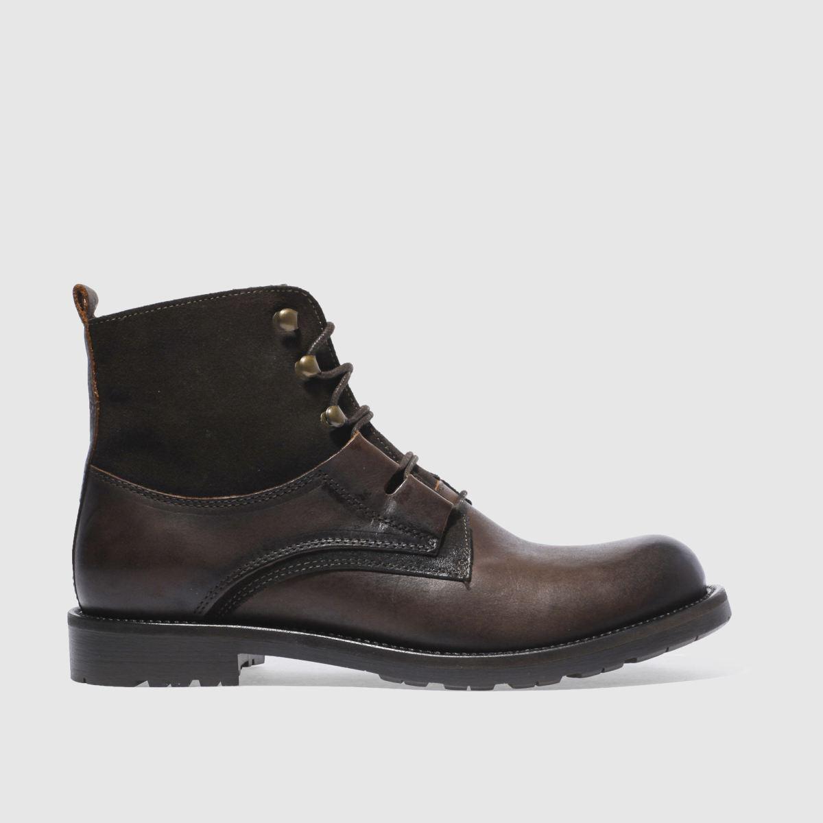 schuh brown duke ghilli boots