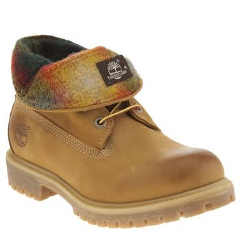 Timberland Natural Roll Top Woolrich Boots