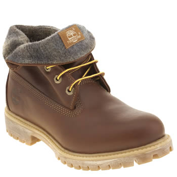 Timberland Brown Roll Top Woolrich Boots