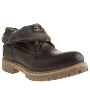 Mens Timberland Dark Brown Roll Top Woolrich Boots