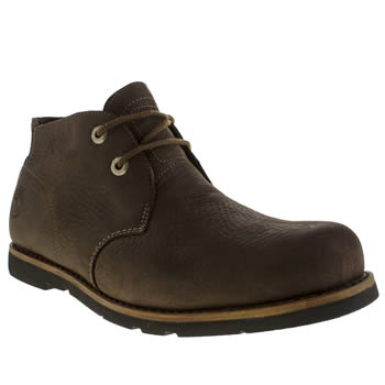 Mens Timberland Dark Brown Earthkeepers Plain Toe Chukka Boots