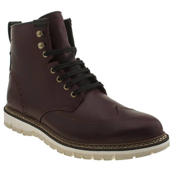 Mens Timberland Burgundy Britain Wing Boots