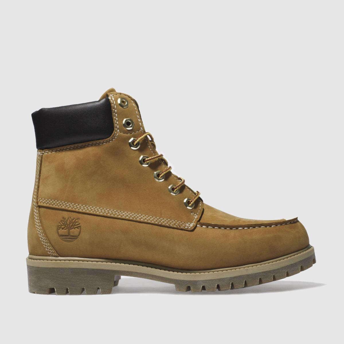 Timberland Natural 6 Inch Premium Moc Toe Boots