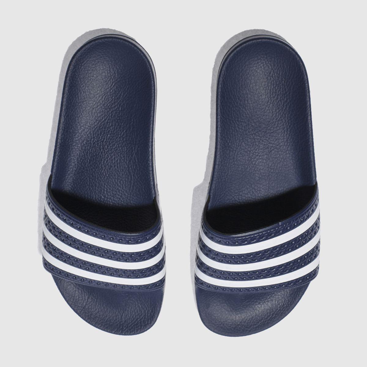 adidas navy adilette sandals