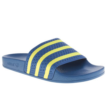 Adidas Blue & Yellow Adilette Sandals