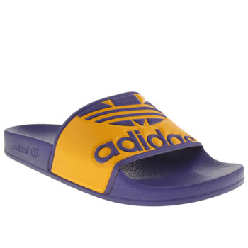 Adidas Purple Adilette Trefoil Sandals