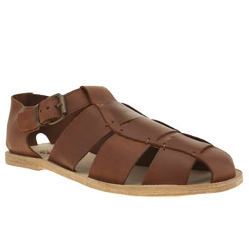 H By Hudson Tan Kerela Fisherman Sandals