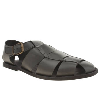 H By Hudson Black Kerela Fisherman Sandals