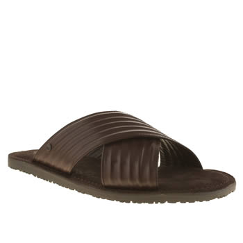 Base London Dark Brown Base Commodus Mule Mens Sandals
