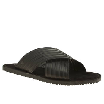 Base London Black Commodus Mule Mens Sandals