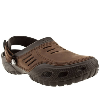 Mens Crocs Brown Yukon Sport Sandals