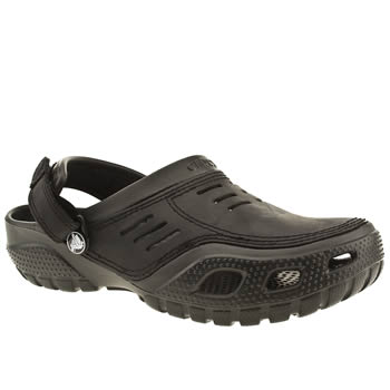 Mens Crocs Black Yukon Sport Sandals