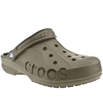 Mens Crocs Brown Baya Sandals