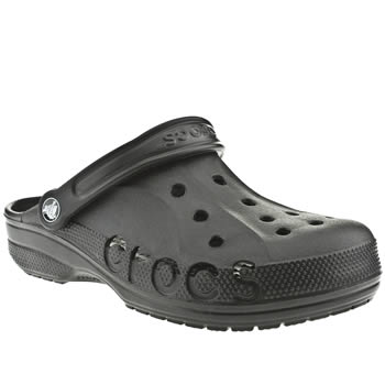 Crocs Black Baya Mens Sandals