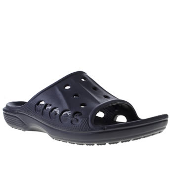 Crocs Navy Baya Slide Sandals