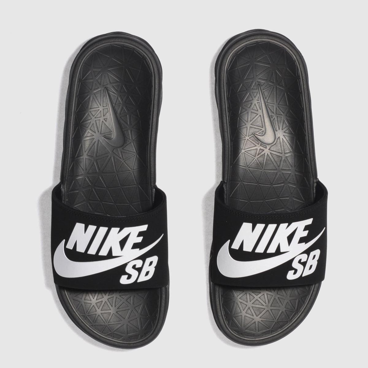 Nike SB Nike Sb Black & White Benassi Solarsoft Sandals