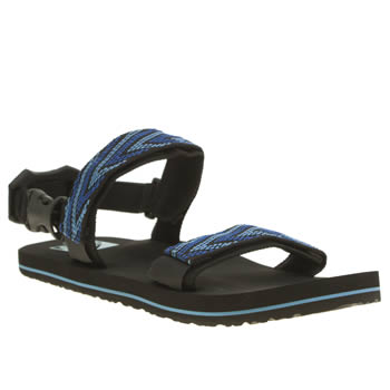 Mens Reef Black and blue Convertible Sandals
