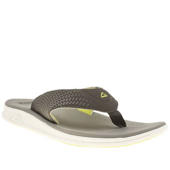 Mens Reef Grey & Lime Rover Sandals