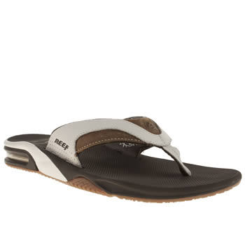 Mens Reef Brown Fanning Prints Sandals
