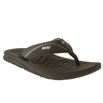 mens reef black phanton flight sandals