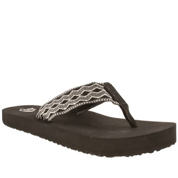 mens reef grey & black smoothy sandals
