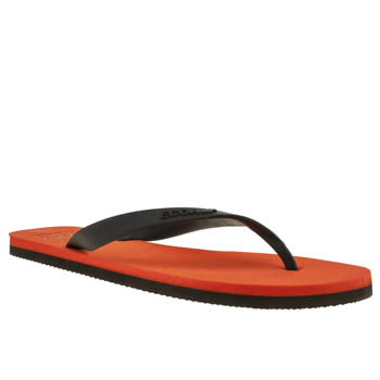 mens ecoalf orange flip flop sandals