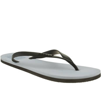 mens ecoalf pale blue flip flop sandals