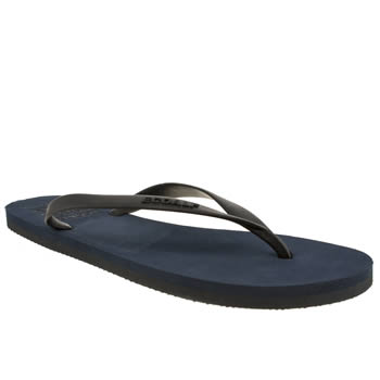 mens ecoalf navy flip flop sandals