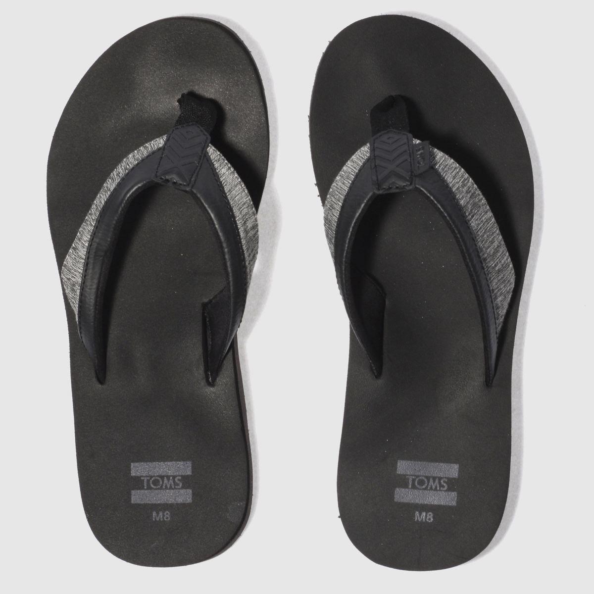 Toms Black Santiago Sandals
