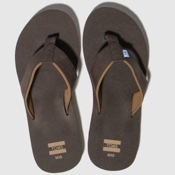 Toms Brown Carilo Flip-Flop Mens Sandals