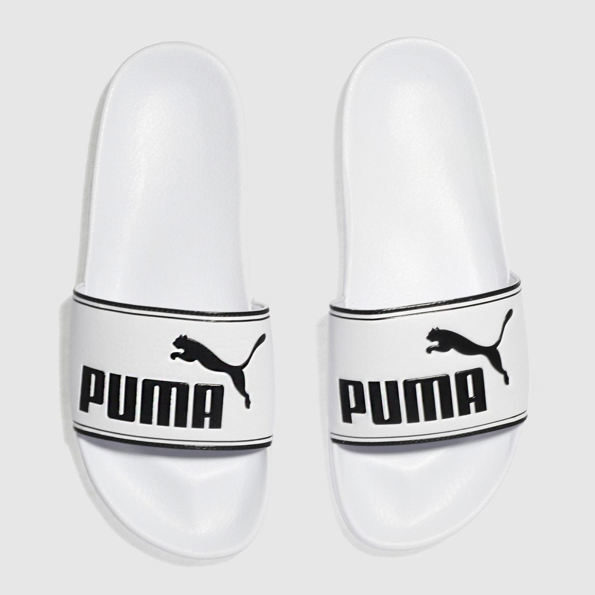 Puma White & Black Leadcat Sandals