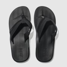 Reef Black Contoured Cushion Mens Sandals