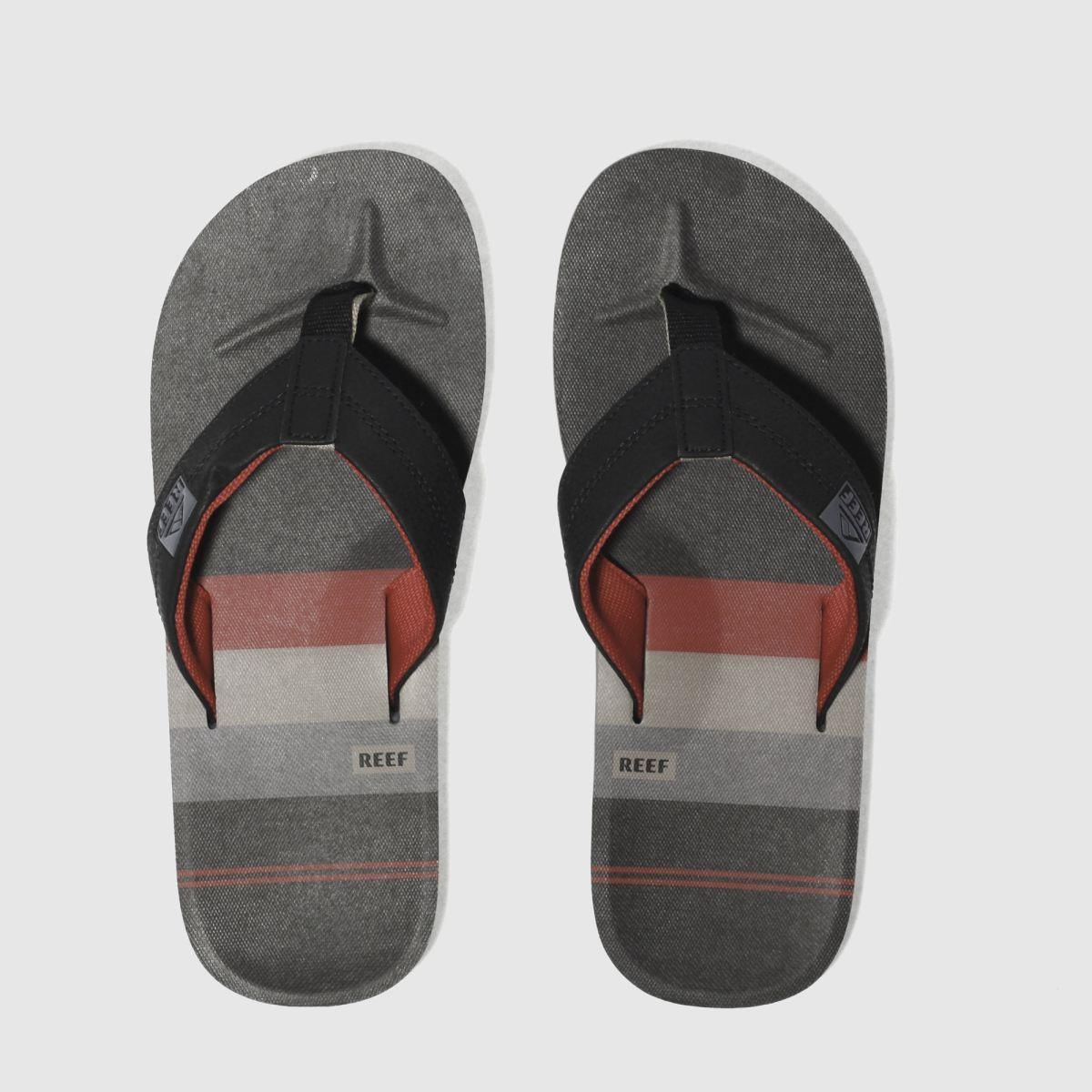 Reef Reef Black & Red Ht Prints Sandals