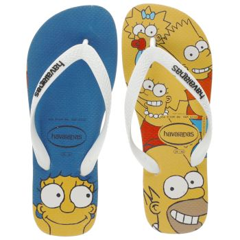 Havaianas Yellow The Simpsons Mens Sandals