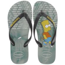 Havaianas Black & Green The Simpsons Mens Sandals