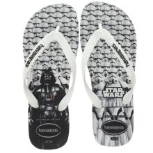 Havaianas White & Black Star Wars Sandals