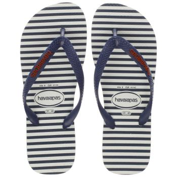 Havaianas White & Navy Top Nautical Mens Sandals