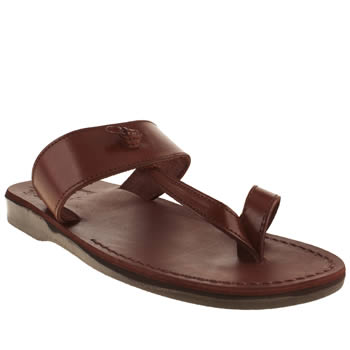 mens jerusalem  brown solomon sandals