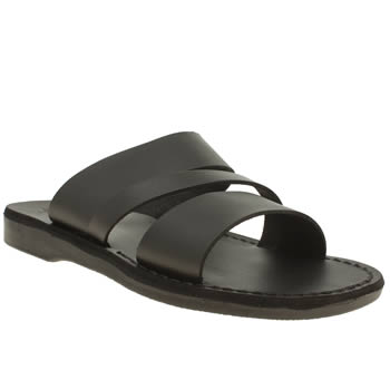 Jerusalem Black Boaz Sandals