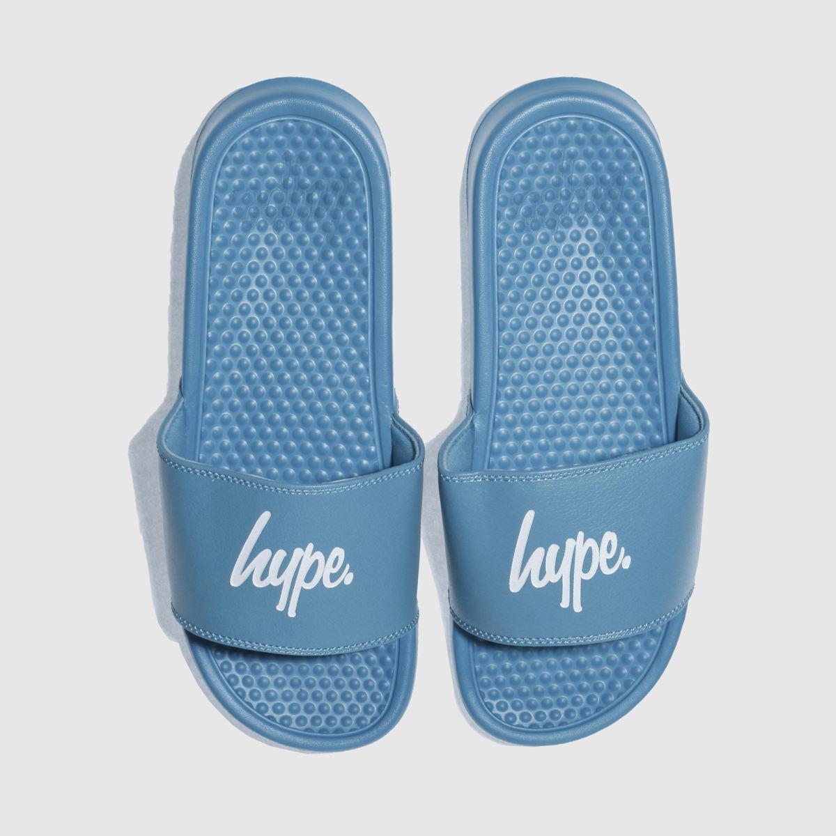 Hype Hype Turquoise Block Slider Sandals