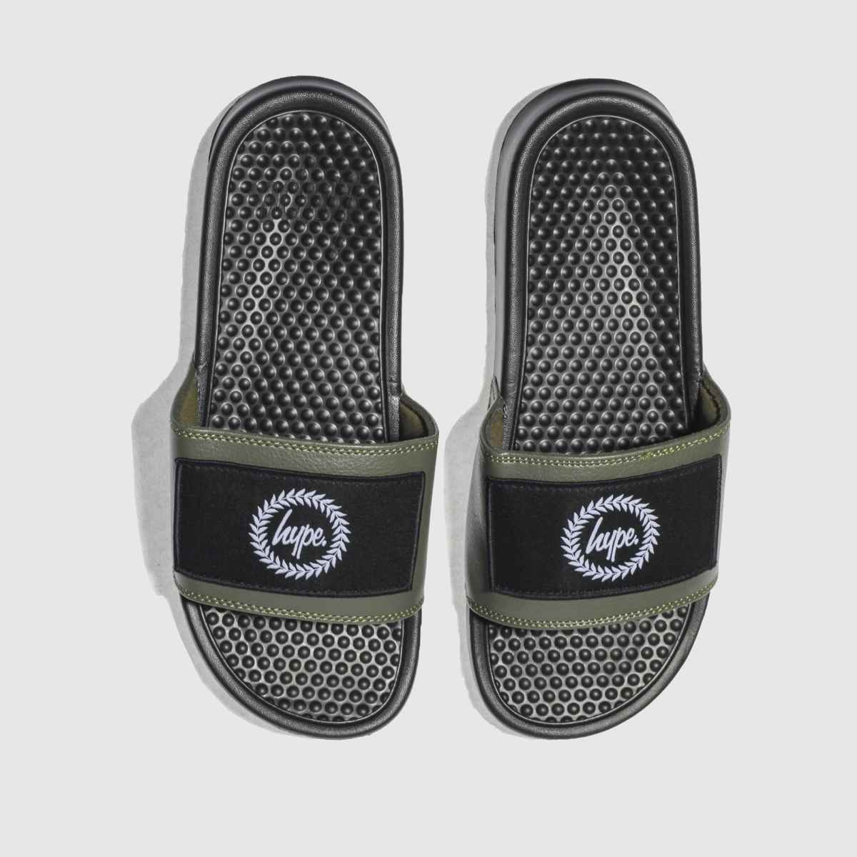 Hype Khaki Insignia Slider Sandals