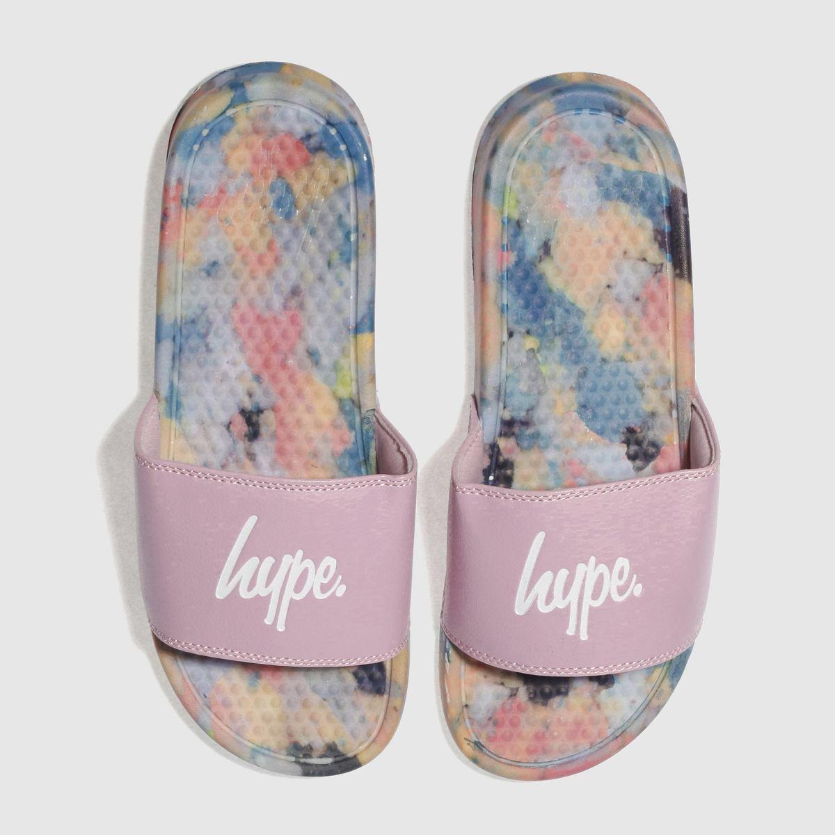 Hype Hype Pink & Blue Sponge Slider Sandals