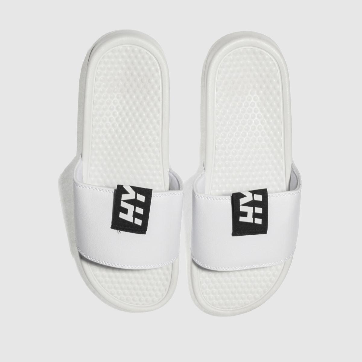 Hype Hype White Tab Slider Sandals